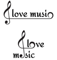 I love music background vector image