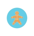 Icon Colorful Gingerbread Man vector image