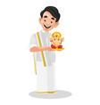 indian malayali man cartoon vector image