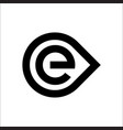 initials letter e logo circle template vector image vector image