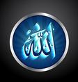 islamic allah text vector image