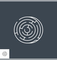 labyrinth thin line icon vector image