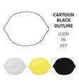 lemon icon cartoon singe fruit icon vector image