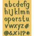 Letters of the alphabet in green color vector image
