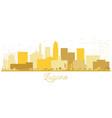 lugano switzerland skyline golden silhouette vector image vector image