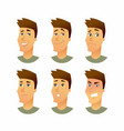 male facial expressions - modern business vector image