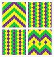 mardi gras geometric seamless background vector image