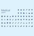 medical easy glyphset vector image vector image