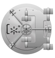 metallic bank vault door isolated on white vector image vector image