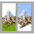 mountains banners vector image vector image