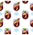 mulled wine glintwein pattern vector image vector image
