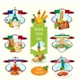 National Cuisine Labels vector image vector image