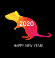 new year card origami rat vector image