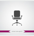 office chair icon simple vector image vector image