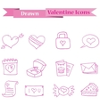 pink icon of valentine collection stock vector image