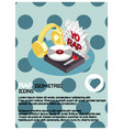 rap color isometric poster vector image