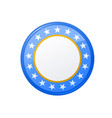 round campaign badge with stars vector image vector image