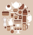 Round coffeecomposition vector | Price: 1 Credit (USD $1)