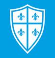royal shield icon white