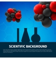 scientific background vector image
