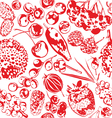 Seamless background with berries vector image vector image