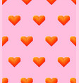 seamless pattern with hearts isolated on pink vector image vector image