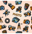 Seamless photography handdrawn pattern with vector image