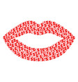 sexy lips collage of dollar and dots vector image