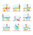 special massages for body health improvement set vector image