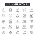 summer line icons signs set linear vector image
