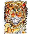 Tiger Sketch01 vector image vector image