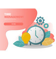 time management planning and control concept vector image vector image