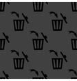 Trash bin web icon flat design Seamless gray vector image
