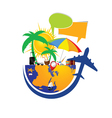 travel icon in colorful vector image vector image