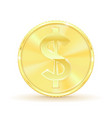 us dollar golden coin vector image