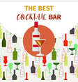 vodka and red cocktail bar banner vector image vector image