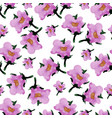 watercolor floral seamless pattern with flowers vector image vector image