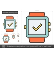Wearable technology line icon vector image vector image