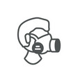 worker respirator mask industrial protection vector image