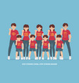 wuhan stay strong people group vector image