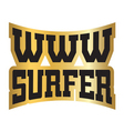 WWW internet surfer typography graphics gold vector image vector image