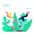 young couple sparetime with dancing outdoors vector image