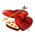 candy in a heart shape vector image