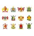 Heraldic Emblems Set vector image
