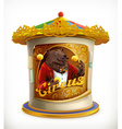 Poster of circus funny animals icon mesh vector image