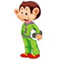 a monkey cartoon character vector image vector image