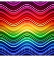Abstract rainbow stripes waves colorful background vector image vector image