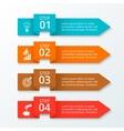 arrows workflow infographic vector image