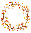 autumn frame with branches of tree and yellow vector image