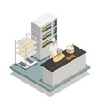 bakery isometric composition vector image vector image
